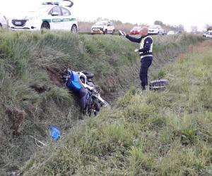 Vigevano: cade dalla moto, centauro ferito