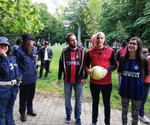 Pd al Parco Parri coi palloni, ma ad aspettare c'era qualcuno...