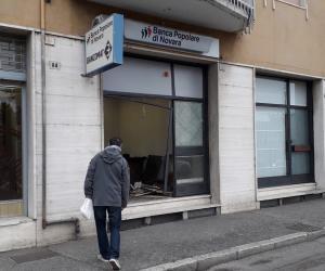Mortara, rubato nella notte il Bancomat della Banca Popolare di Novara
