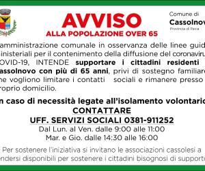 Cassolnovo, i servizi sociali in supporto degli over 65 soli