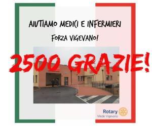 Rotary Club Mede Vigevano, prosegue la raccolta di fondi per l'ospedale