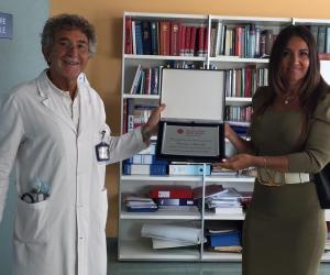 Alla Clinica Beato Matteo una targa in memoria di Luciano Mercalli