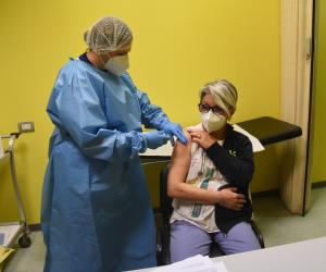 Iniziata oggi pomeriggio la vaccinazione anti-Covid in ospedale