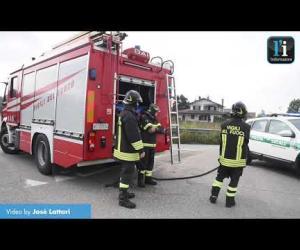 Sversamento di gasolio sulla provinciale 206