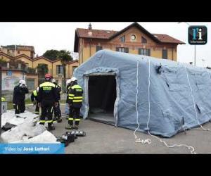 Vigevano, tenda di pre-triage al pronto soccorso dell'ospedale