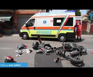 Vigevano, incidente in corso Genova: ferito un giovane di 16 anni
