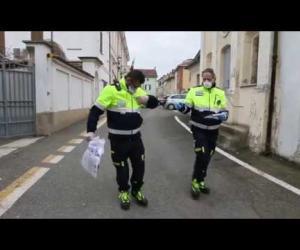Sartirana, consegna delle mascherine da parte della Protezione Civile