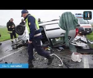 Frontale a Gravellona: il video dei soccorsi