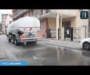 Vigevano, prosegue l'intervento di sanificazione delle strade