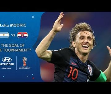 Modric, gol all'argentina