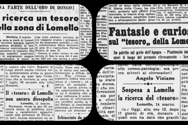 """Il """"tesoro fascista"""" di Lomello"""