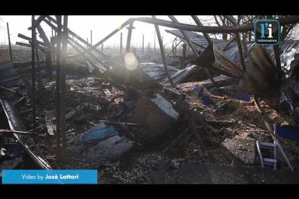 Cilavegna, le immagini dopo l'incendio di questa mattina